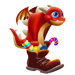 Appearance of Candy Boot Dragon when teenager