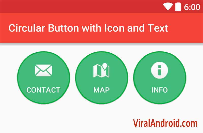 Circular Button with Icon and Text in Android | Viral Android