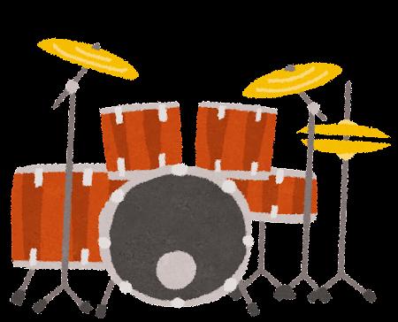 ドラムセットのイラスト