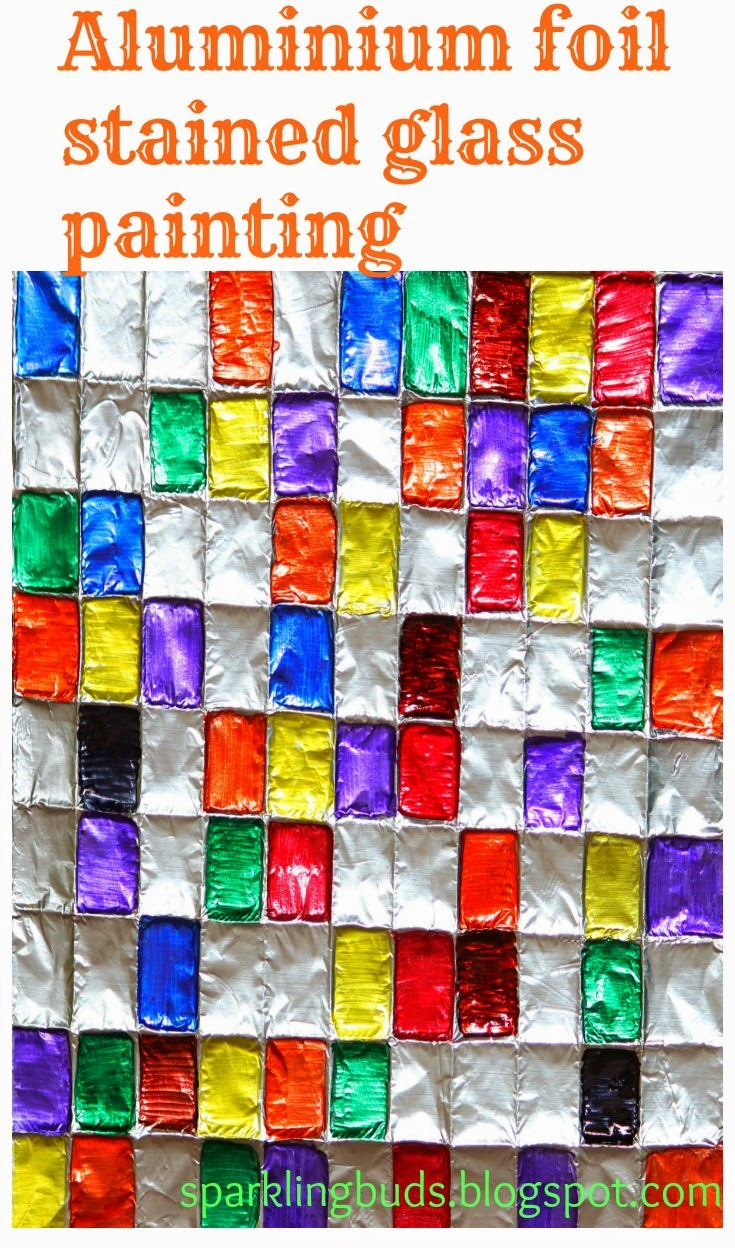 Aluminium Foil Stained Glass Painting Sparklingbuds