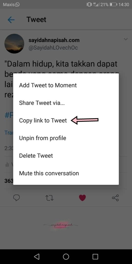 Cara Ambil Link Facebook, Instagram & Twitter Melalui Mobile Phone