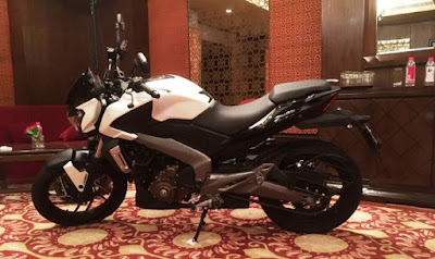 Bajaj Dominar 400 moon white picture