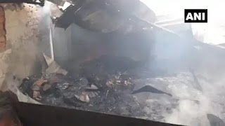 Fire in Snack Factory Muzaffarpur