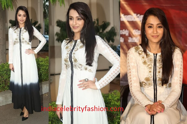Trisha Krishnan in Kavita Bhartia for nayaki teaser launch