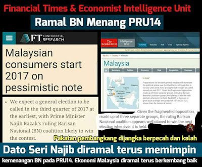 FINANCIAL TIMES & THE ECONOMIST RAMAL BN  MENANG PRU14