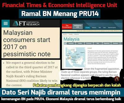FINANCIAL TIMES & THE ECONOMIST RAMAL BN MENANG PRU14