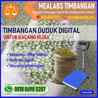 Timbangan Duduk Digital untuk Kacang Hijau