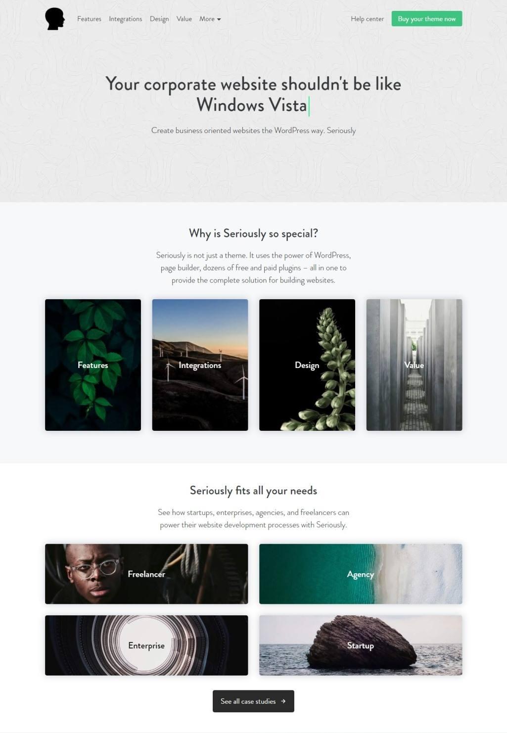 Seriously wordpress theme - Multi-Purpose WordPress Website Builder