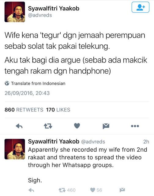 """""""Wife Kena Tegur Sebab Solat Tak Pakai Telekung,"""" Tidak Sahkah Solat Tanpa Terlekung? Ini Jawapan Ustaz Dr Shauqi Othman"""