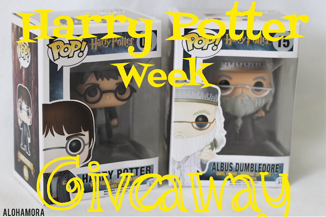 Harry Potter's Birthday Week Celebration Giveaway.  Win Harry Potter and Albus Dumbledore Pop Funkos on the blog, Facebook, and Instagram.  Loads of delicious recipes too! Fun, contest, Harry Potter books, dessert recipes, drinks, meals, chocolate, skinny healthy drinks  Alohamora Open a Book http://alohamoraopenabook.blogspot.com/