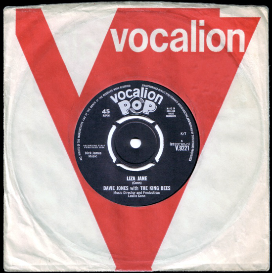 David Bowie, single 1964 cover front