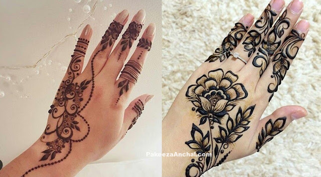 Simple yet elegent Mehendi Designs for 2017