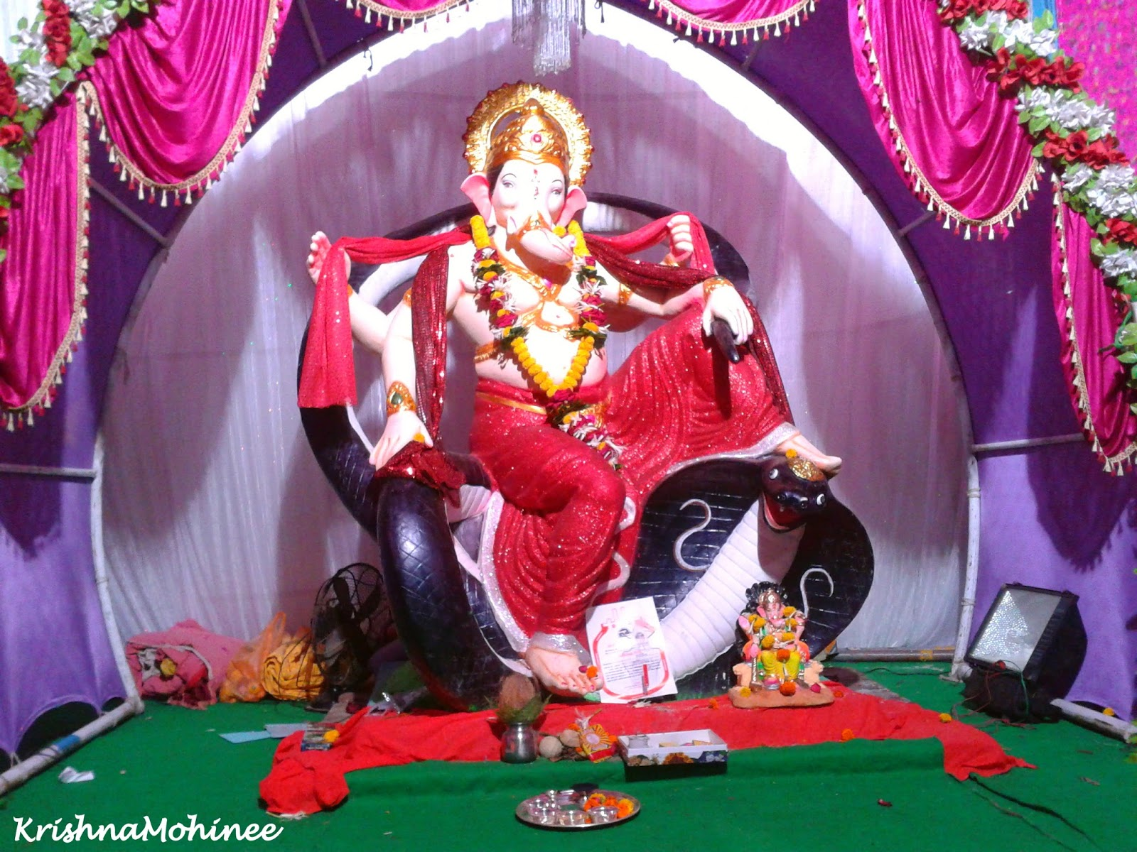 Image: Lord Ganesh on Simhasan