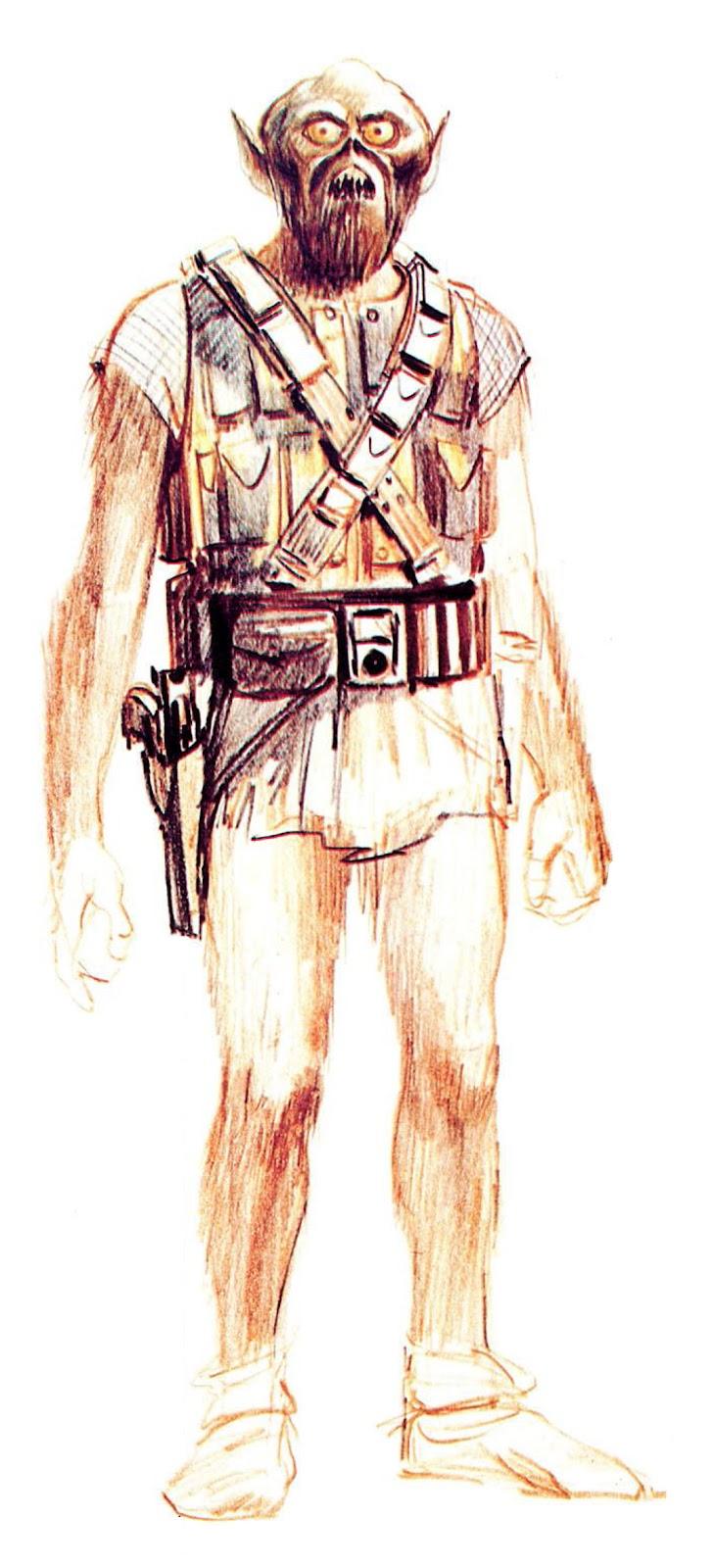 Original Chewbacca Conceptual art design