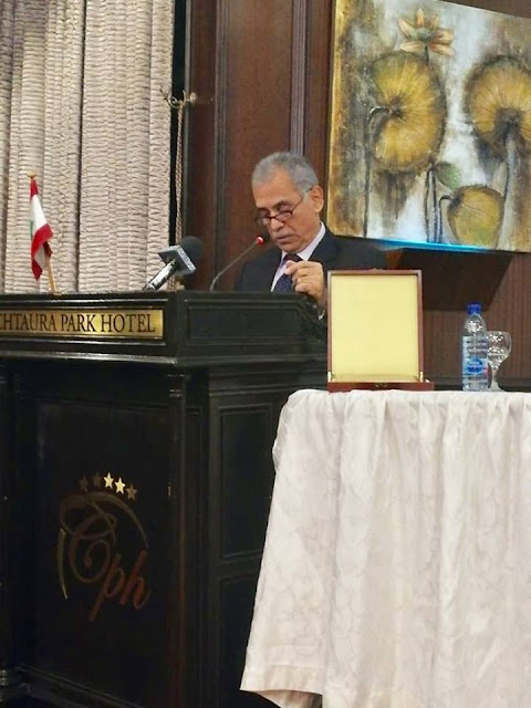 جورج خباز تكرمه هيئة الحوار الثقافي الدائم بمناسبة يوم المسرح العالمي