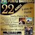 Vem ai o 22º Aniversário de Porto Barreiro - Confira a programação