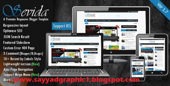 Sevida Responsive Magazine Blogger Template Free Dwonoald