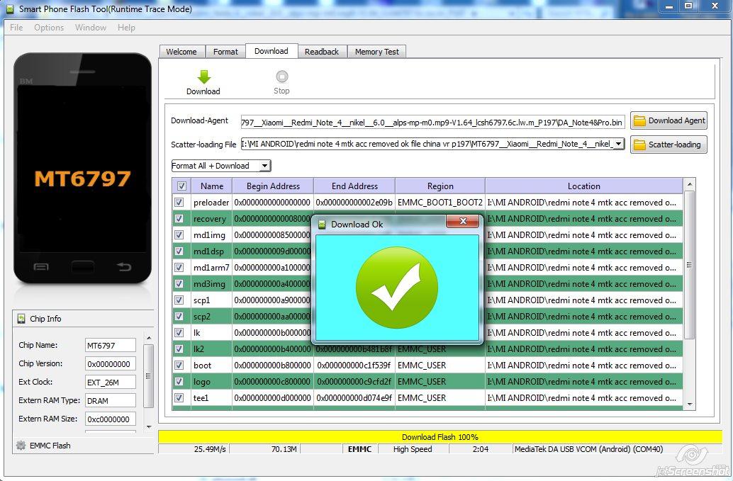Redmi Note 4 Mtk Mi Account Lock Remove Firmware And Dead Boot