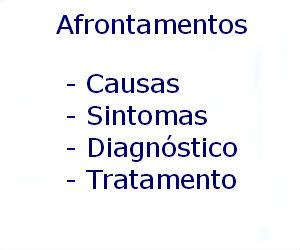 Afrontamentos causas sintomas diagnóstico tratamento prevenção riscos complicações