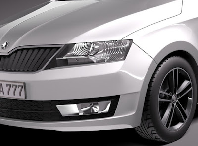 New Skoda Rapid Facelift Headlight