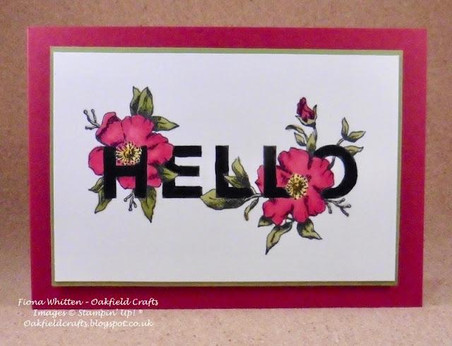 Challenge, Floral Statements, Stampin' Blends