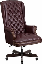 Tufted Leather Office Chair