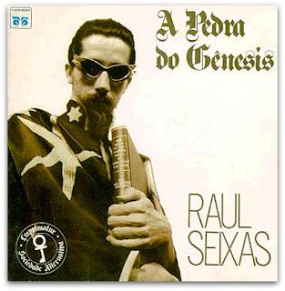 """Raul Seixas na capa do disco """"A Pedra do Gênesis"""", de 1988"""