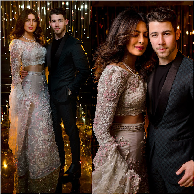 Priyanka Chopra and Nick Jonas Look Stunning at their Wedding Reception