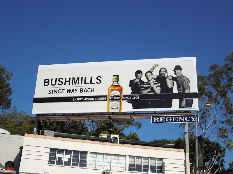 Bushmills way back billboard