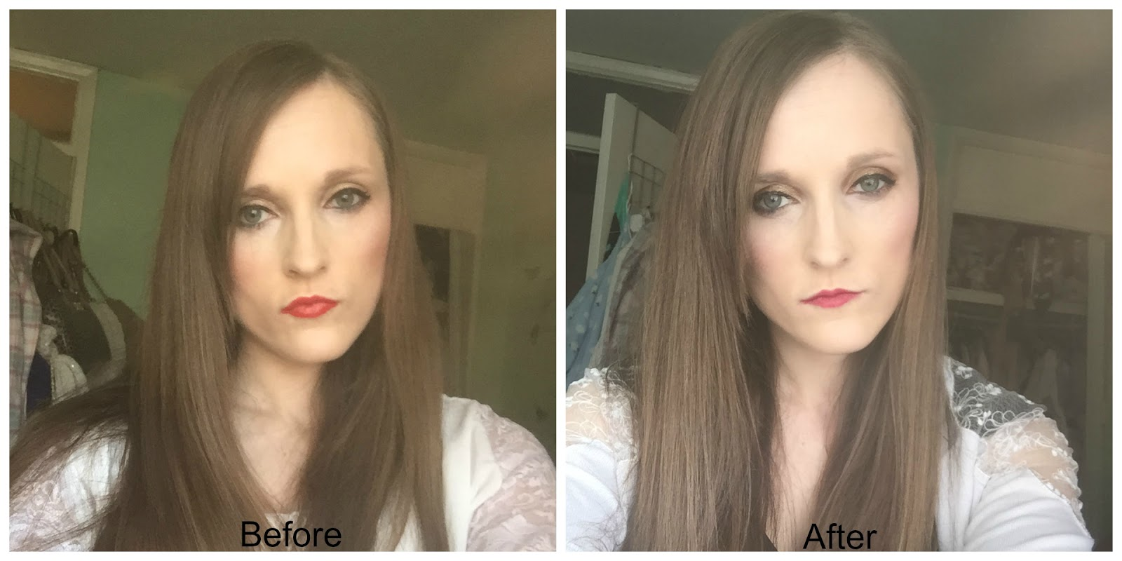 before and after salon science thickening hair serum