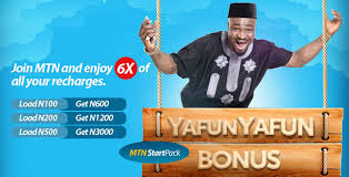Get 500% bonus and 10mb data on MTN startpack