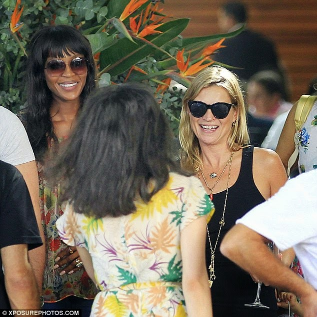 Kate Moss & Naomi Campbell Shop In Sao Paulo