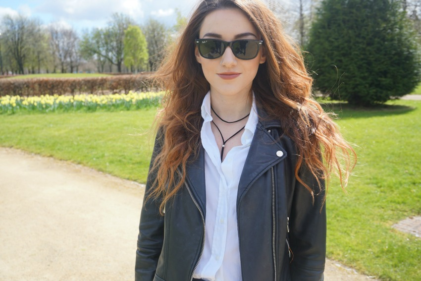 Leather Biker Jacket Black Skinny Jeans OOTD