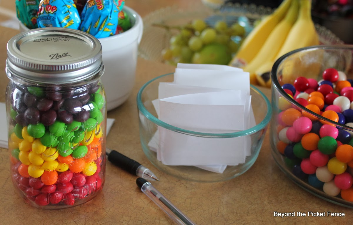 Tween birthday party Rainbow theme minute to win it http://bec4-beyondthepicketfence.blogspot.com/2014/02/rainbow-party-how-to-throw-tween-party.html