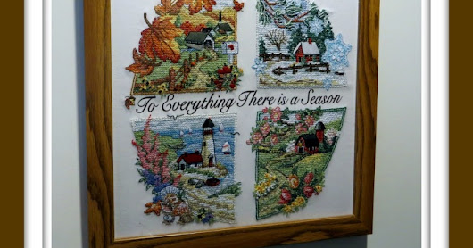 "My First Stamped Cross-stitch Project - ""A Season For Everything"" Dimensions Cross-stitch Picture and Kit"