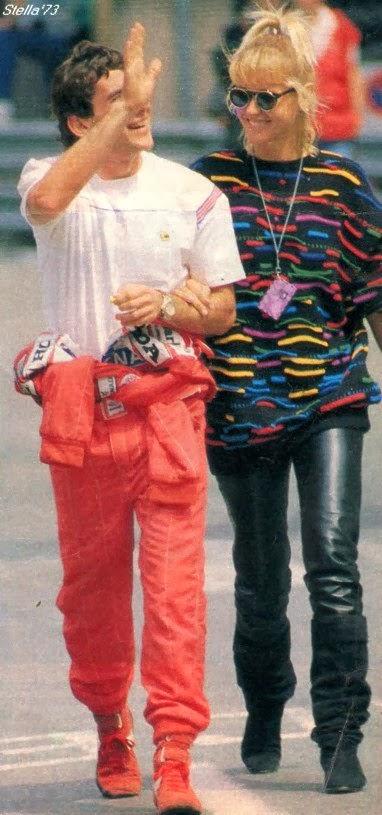 Honda San Bruno >> Ayrton Senna Forever: Photos Ayrton Senna and girlfriend