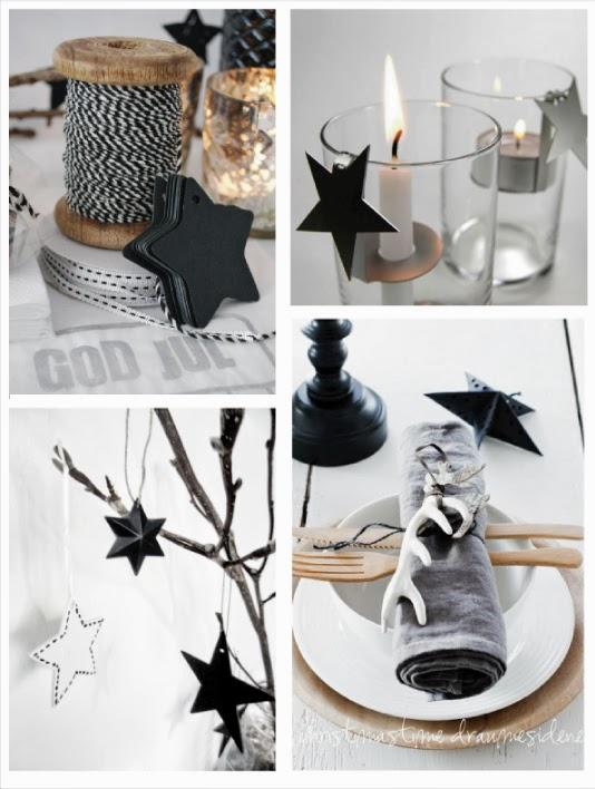 Addobbi in bianco e nero per un natale minimal blog di for Decorazioni piatti gourmet