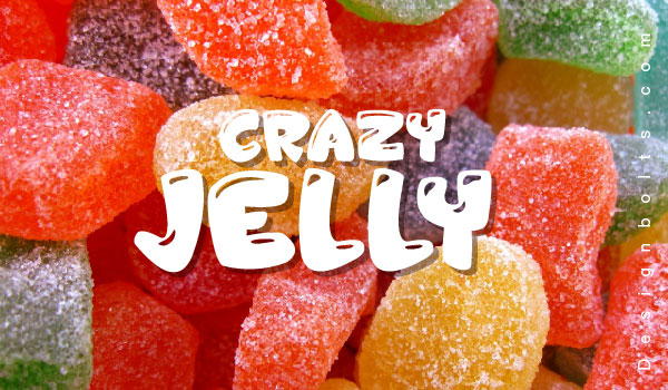 Font Packaging Design - Jelly Crazies Font