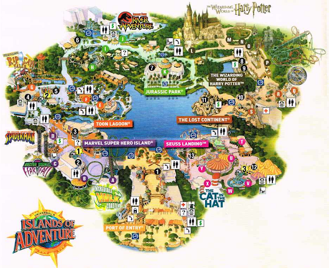 Como é o parque Islands of Adventure em Orlando?