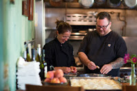 Owners of Harvest Moon Cafe Jen and Nick Demarest in Sonoma, California