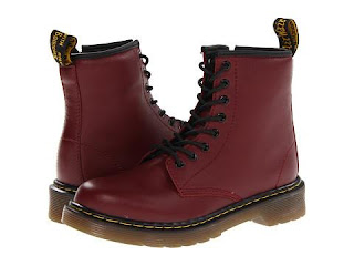 Cherry Doc Martens for children