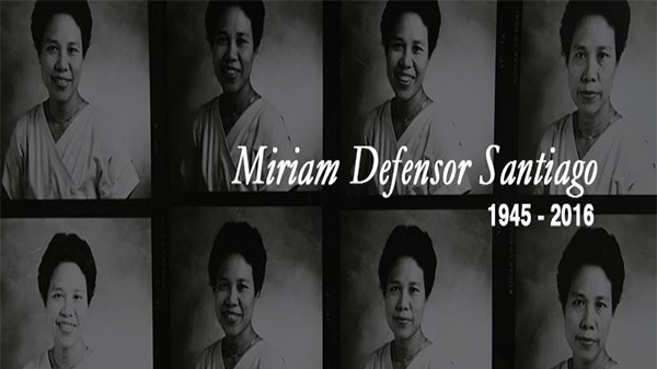 Miriam Defensor-Santiago death
