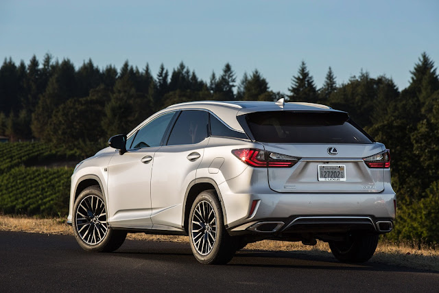 Rear 3/4 view of 2016 Lexus RX 350 F SPORT