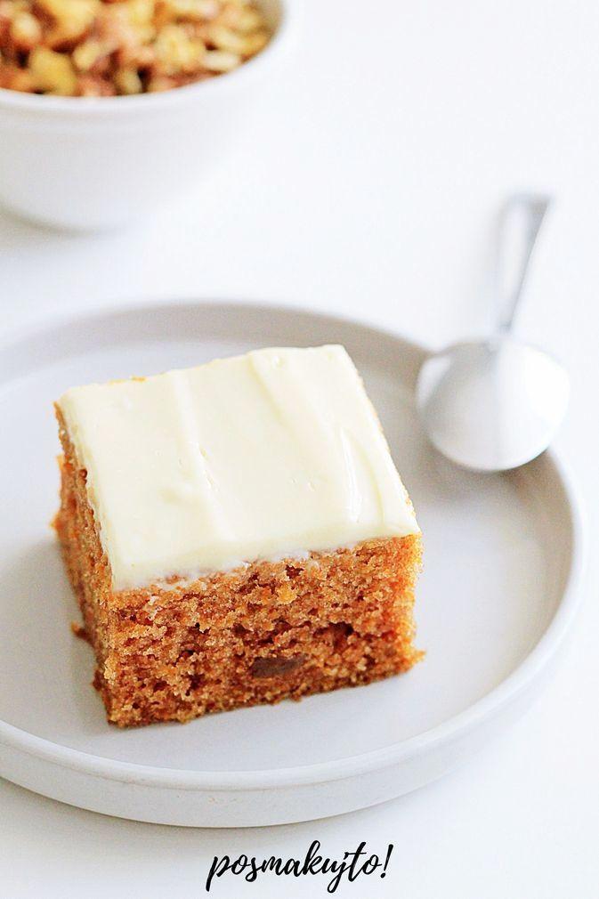 najlepsze wilgotne ciasto marchewkowe z rodzynkami i polewa z serka philadelphia