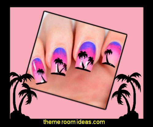 Palm Nail Stencils Stickers Vinyls for Nail Art Design nail decorations