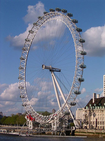 Big Ferris Wheel, Eye, in London (Source: Wikipedia/London_Eye)