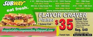 Free Printable Subway Coupons