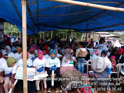 Ribuan Petani Lampung Barat Nyatakan Dukungan Pada Ridho Ficardo-Bachtiar Basri