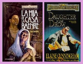 portadas del libro La hija de la casa Baenre, de Elaine Cunningham