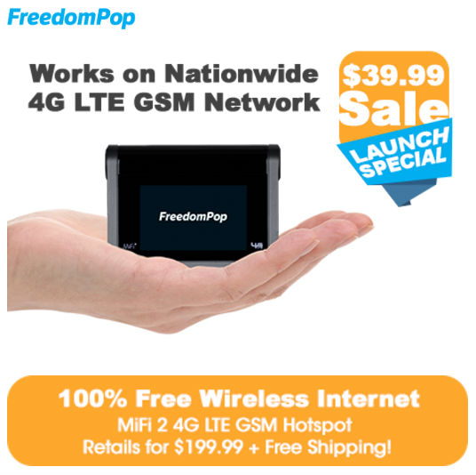 FreedomPop Now Offering Free AT&T LTE Mobile Broadband